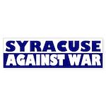 Syracuse Against War bumper sticker