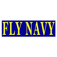 Fly Navy Bumper Bumper Sticker