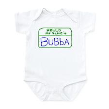 HELLO MY NAME IS Bubba handscrawled Infant Bodysui