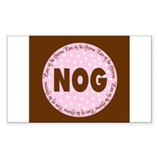 Polka Dot Groom's Niece Rectangle Decal