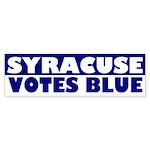 Syracuse votes Blue bumper sticker
