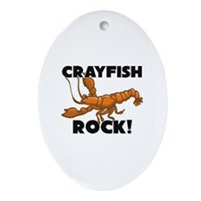 Crayfish Rock! Oval Ornament
