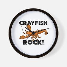Crayfish Rock! Wall Clock