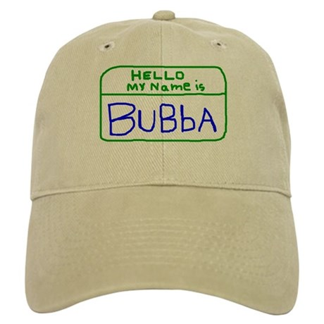 HELLO MY NAME IS Bubba handscrawled Cap