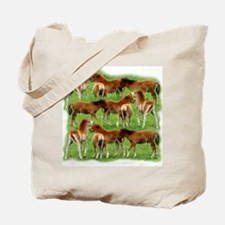 Mini Colts Playing In Field Tote Bag