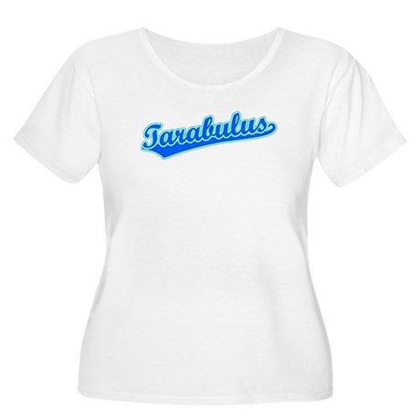 Retro Tarabulus (Blue) Women's Plus Size Scoop Nec