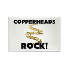 Copperheads Rock! Rectangle Magnet