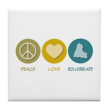 Peace Love Rollerblade Tile Coaster