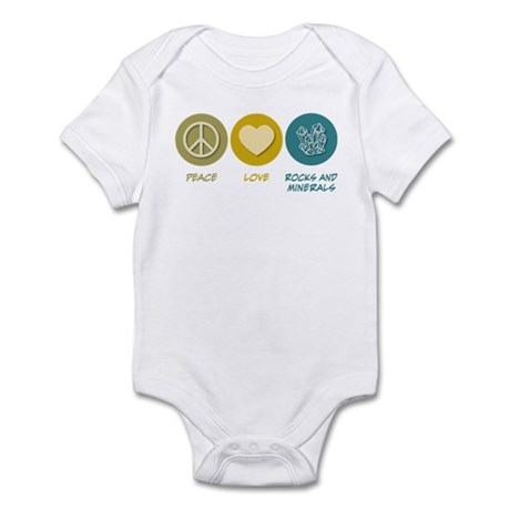 Peace Love Rocks and Minerals Infant Bodysuit