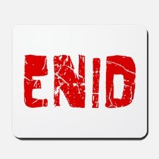 Enid Faded (Red) Mousepad