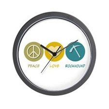 Peace Love Rockhound Wall Clock
