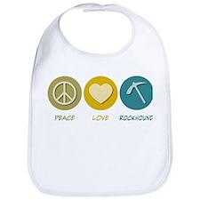 Peace Love Rockhound Bib