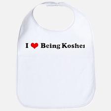 I Love Being Kosher Bib