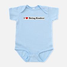 I Love Being Kosher Infant Creeper