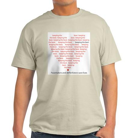 Pacers/Defibs Keep Beat Ash Grey T-Shirt