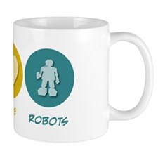 Peace Love Robots Mug