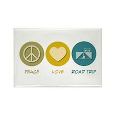 Peace Love Road Trip Rectangle Magnet