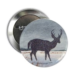 """Snowdusted Deer 2.25"""" Button (10 pack)"""