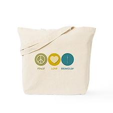 Peace Love Rheumatology Tote Bag
