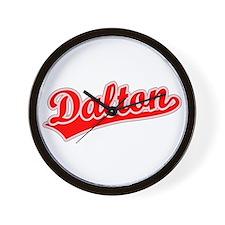 Retro Dalton (Red) Wall Clock
