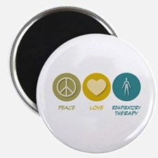"""Peace Love Respiratory Therapy 2.25"""" Magnet ("""