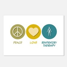 Peace Love Respiratory Therapy Postcards (Package