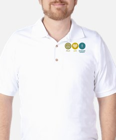 Peace Love Respiratory Therapy Golf Shirt