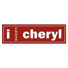 CHERYL 1.0 Bumper Bumper Sticker