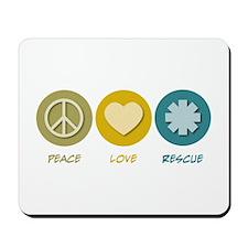 Peace Love Rescue Mousepad