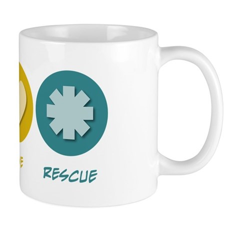 Peace Love Rescue Mug