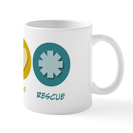 Peace Love Rescue Mug