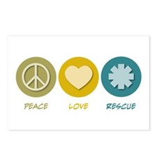 Peace Love Rescue Postcards (Package of 8)