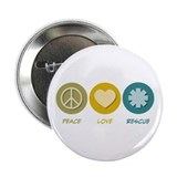 Peace love rescue Buttons