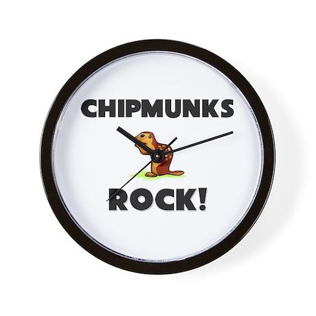 Chipmunks Rock! Wall Clock