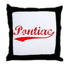 Vintage Pontiac (Red) Throw Pillow