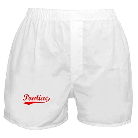 Vintage Pontiac (Red) Boxer Shorts