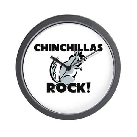 Chinchillas Rock! Wall Clock
