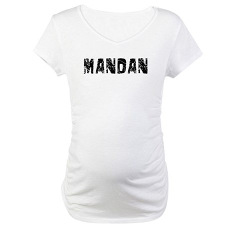 Mandan Faded (Black) Maternity T-Shirt