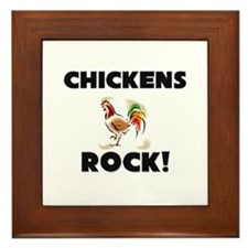 Chickens Rock! Framed Tile