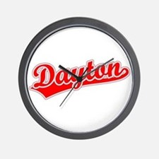 Retro Dayton (Red) Wall Clock