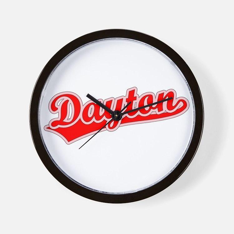 Retro Dayton (Red) Wall Clock