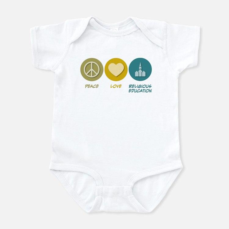 Peace Love Religious Education Infant Bodysuit