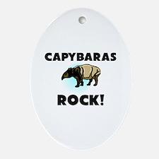 Capybaras Rock! Oval Ornament