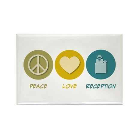 Peace Love Reception Rectangle Magnet (100 pack)