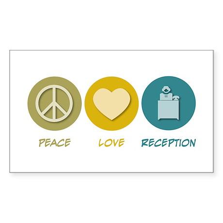Peace Love Reception Rectangle Sticker