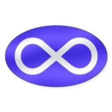 Metis Nation Oval Decal
