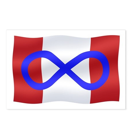 Metis Nation Postcards 8 pack Canada Flag Metis