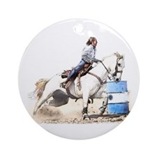 Barrel Racing #33c Ornament (Round)