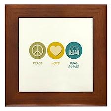 Peace Love Real Estate Framed Tile