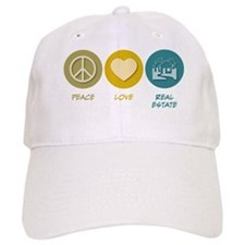Peace Love Real Estate Baseball Cap